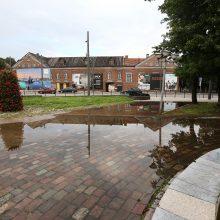 Po gausaus lietaus Kaune – apsemtas Senamiestis