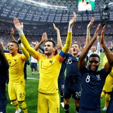 Prancūzijos futbolininkai antrą kartą tapo pasaulio čempionais