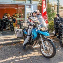 Lietuvos motociklininkų pora išvyko į kelionę aplink pasaulį