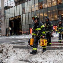 D. Trumpo dangoraižyje Niujorke kilo gaisras