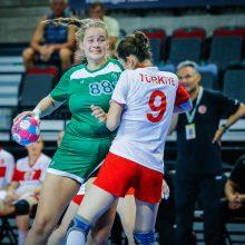 Merginų rankinio rinktinė mažajame finale nusileido turkėms