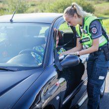 Policijos reiduose – sankcijos už girtumą ir viršytą greitį