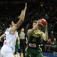 Lietuvos krepšininkai užtikrintai įveikė Italijos rinktinę