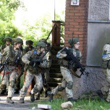 Klaipėdoje – karo veiksmų imitacija