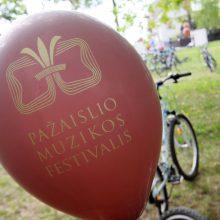 Pažaislio muzikos festivalis šiemet prasidėjo dviračių žygiu