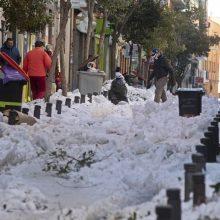 Speigas Ispanijoje trukdo valyti sniegą