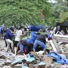 Indonezijoje žemės drebėjimo aukų padaugėjo iki 34