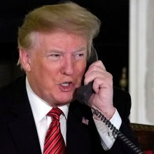 D. Trumpas telefonu padėkojo jį Nobeliui nominavusiems parlamentarams