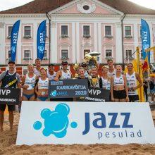 Seserys R. ir G. Grudzinskaitės triumfavo paplūdimio tinklinio turnyre Estijoje