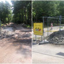 Miško takai Nidoje paversti asfalto atliekų sąvartynais