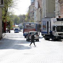 Įspėja vairuotojus: Klaipėdos senamiestyje bus mažinamas leistinas greitis