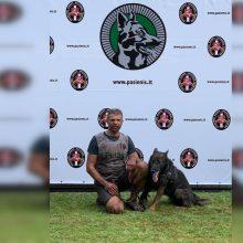 Biatlono su šunimis varžybos: dalyvavo Klaipėdos apskrities policijos atstovas