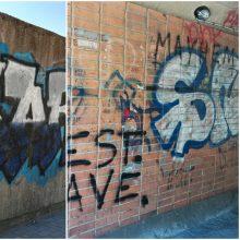 Klaipėdoje įkliuvo grafičių piešėjas: meną teko užbaigti areštinėje