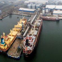 Incidentas Klaipėdos uoste: laivas kliudė krantinę