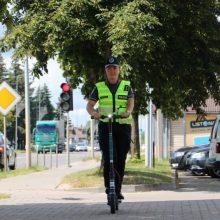 Sustiprinama elektrinių paspirtukų kontrolė: reikės prisiminti Kelių eismo taisykles