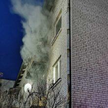 Marijampolės bendrabutyje – gaisras: ugniagesiai ten pat vyksta jau ne pirmą kartą