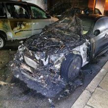 Šiaulių pareigūnai ieško padegėjų: supleškino BMW daugiabučio kieme ir paspruko