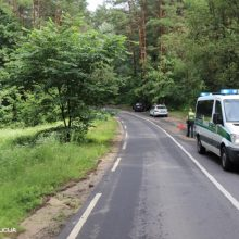 Avarija Alytaus rajone: rastas į griovį nuvažiavęs neblaivaus vyro automobilis