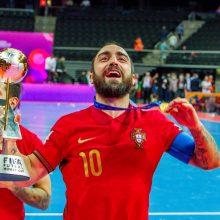 Portugalai sugrąžino salės futbolo čempionų trofėjų į Europą