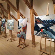 Maironio lietuvių literatūros muziejuje galima susipažinti su menininko G. Markučio darbais