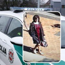 Po vagystės – pareigūnų dėmesys: policininkai turi klausimų šiai moteriai
