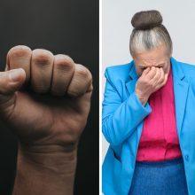 Sulaikyti du jaunuoliai, vidury dienos sumušę pagyvenusią moterį