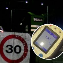 Sostinėje – naktiniai kelių policijos reidai: išlipęs vienas vairuotojas vos stovėjo ant kojų