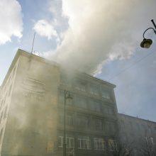 Vilniuje degė pastatas šalia Sveikatos ministerijos: evakuoti apie 100 žmonių