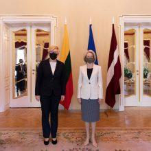 Premjerė I. Šimonytė: su Latvija grėsmes matome vienodai