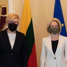 Lietuvos premjerė Ingrida Šimonytė viešėjo Latvijoje