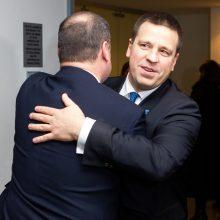 Estijos premjeras J. Ratas Vilniuje susitinka su S. Skverneliu