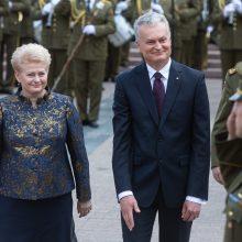 D. Grybauskaitė įvertino G. Nausėdos darbo pradžią: turėkime tolerancijos