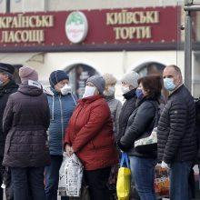 Ukrainoje užsikrėtimo koronavirusu atvejų skaičius artėja prie 500