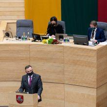 Antradienį Seime lankysis Lenkijos prezidentas A. Duda