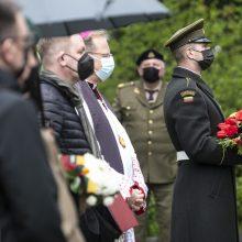 Vilniuje pašventintas paminklas paskutiniam partizanui – A. Kraujeliui-Siaubūnui