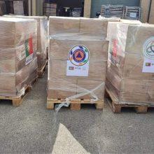 Lietuva gavo humanitarinės pagalbos siuntą iš Portugalijos