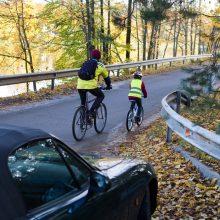 Įspėja vairuotojus: ant kelio nukritę lapai suformuoja slidžią dangą