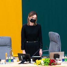 V. Čmilytė-Nielsen: vyksta pokalbiai su kandidatais į Seimo kanclerio postą