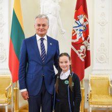 Išsipildė ketvirtokės iš Širvintų svajonė susitikti su prezidentu