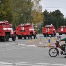 Kijevo naftos bazėje kilo didžiulis gaisras: liepsnojo benzinvežiai