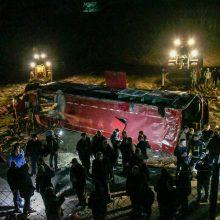Šiaurės Makedonijoje per tragišką autobuso avariją žuvo 13 žmonių