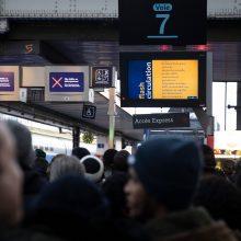 Dėl streiko Prancūzijoje ir toliau paralyžiuojamas susisiekimas