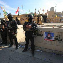 Bagdade šalia JAV ambasados nukrito trys raketos