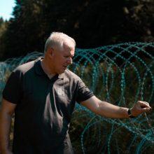 Ministras A. Anušauskas: kariuomenės parama pasieniečiams didės