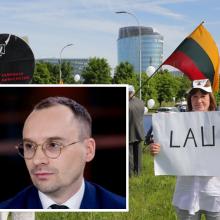 Mitinge prie Seimo pasirodęs M. Maldeikis išplūstas keiksmažodžiais