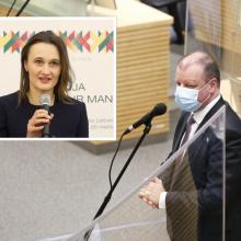 V. Čmilytė-Nielsen atmeta S. Skvernelio priekaištus: opozicijos balsas tikrai girdimas