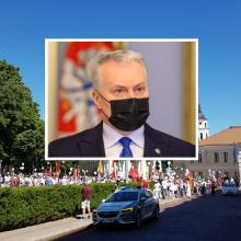 Politologas apie G. Nausėdos patarėjo kalbą protestuotojams: praleista proga nubrėžti ribą