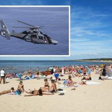 Per plauką nuo tragedijos: Baltijos jūroje išgelbėta skendusi mergaitė, pakeltas sraigtasparnis