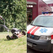 Nelaimė Molėtų rajone: žoliapjovė vaikui nupjovė kojos pirštus