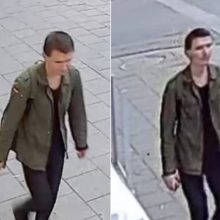 Policija ieško sienų tepliotojo (gal atpažinsite šį vyrą?)